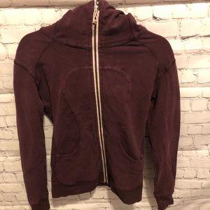 Lululemon size 4 Scuba hoodie deep burgundy